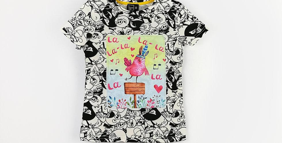 LaLaLa Birds T-Shirts | Girls
