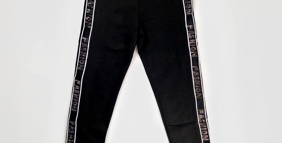 Black Striped Leggings | Girls
