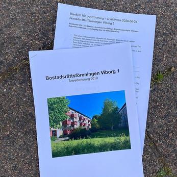 Vattenavstängning imorgon, årsredovisningar och röstkort