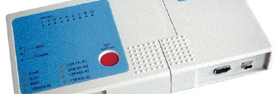Testador RJ 45 / RJ 11 / USB / BNC / FIRE
