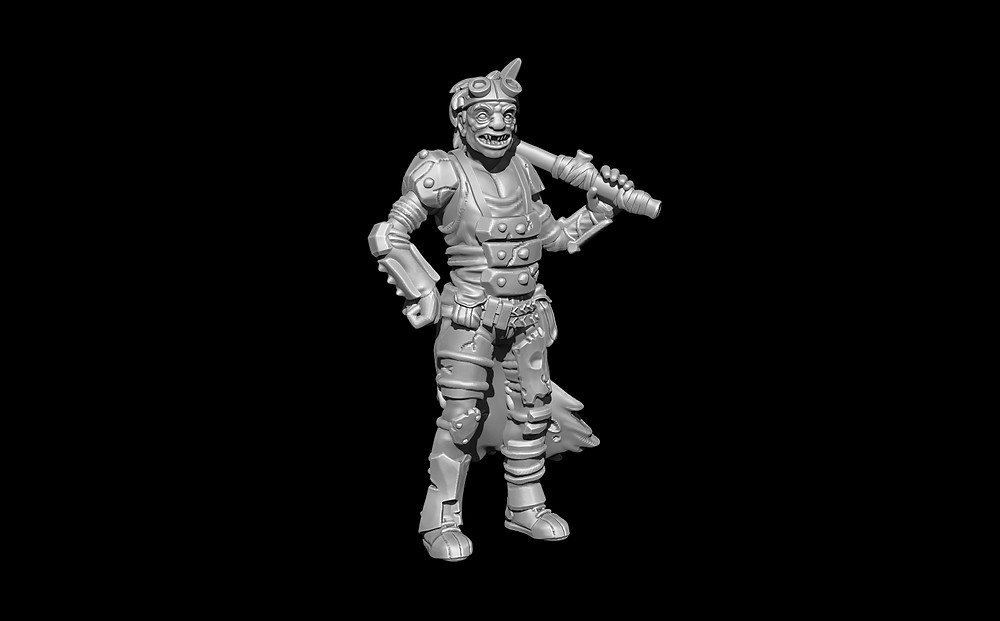 Daruma Productions Runt sculpted by Icarus Miniatures