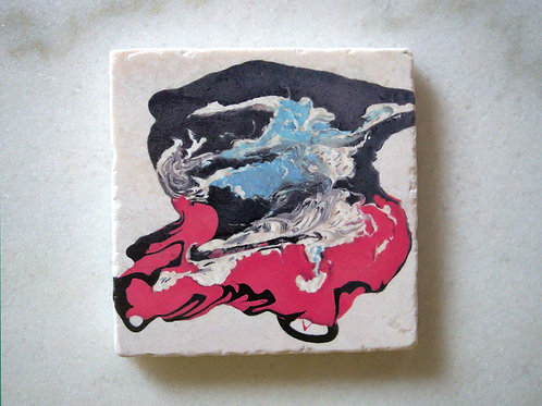Set of 4 Marble Art Coasters -Super Hero