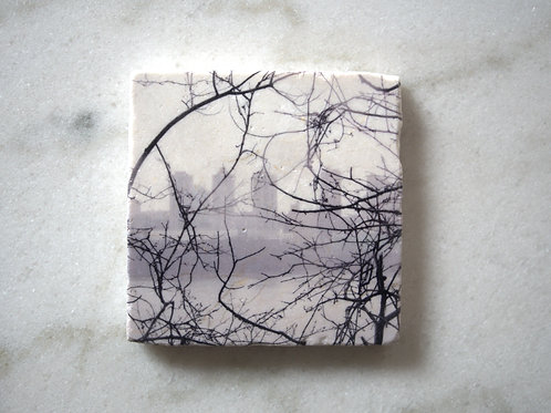 Single Marble Art Coasters- NYC