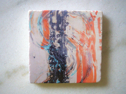 Set of 4 Marble Art Coasters - Abstract S