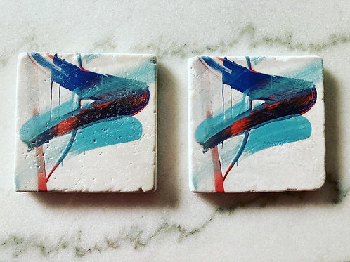 Set of 4 Art Coasters - Easy Street