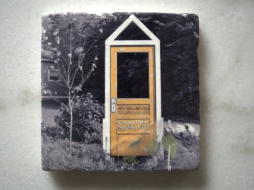 Single Marble Art Coasters- Cottage Home