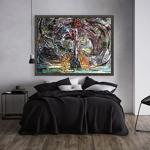 Tree Of Life - Abstract Art on canvas