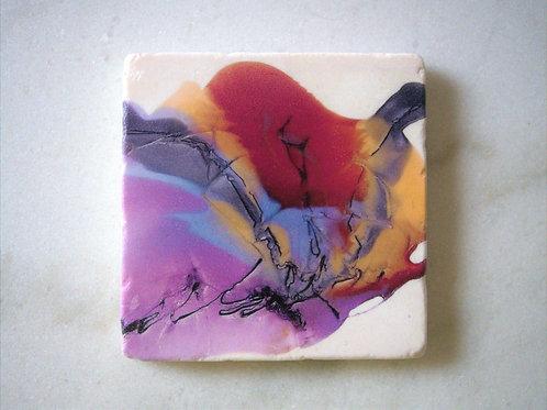 Single Marble Art Coaster - Butterfly