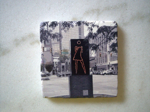 Single Marble Art Coaster- Dancing Girl