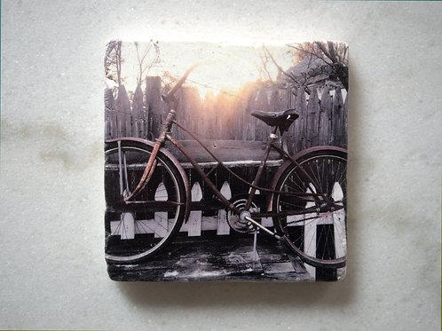 Set of 4 Marble Art Coasters- Enjoying The Ride