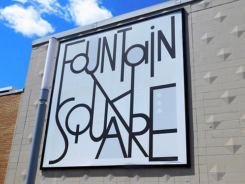 Fountain Square Sign - Print
