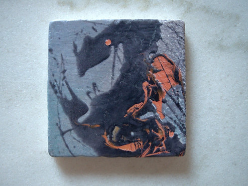 Single Marble Art Coaster- The Dragon