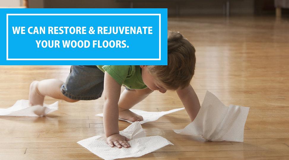 boy cleaning floor