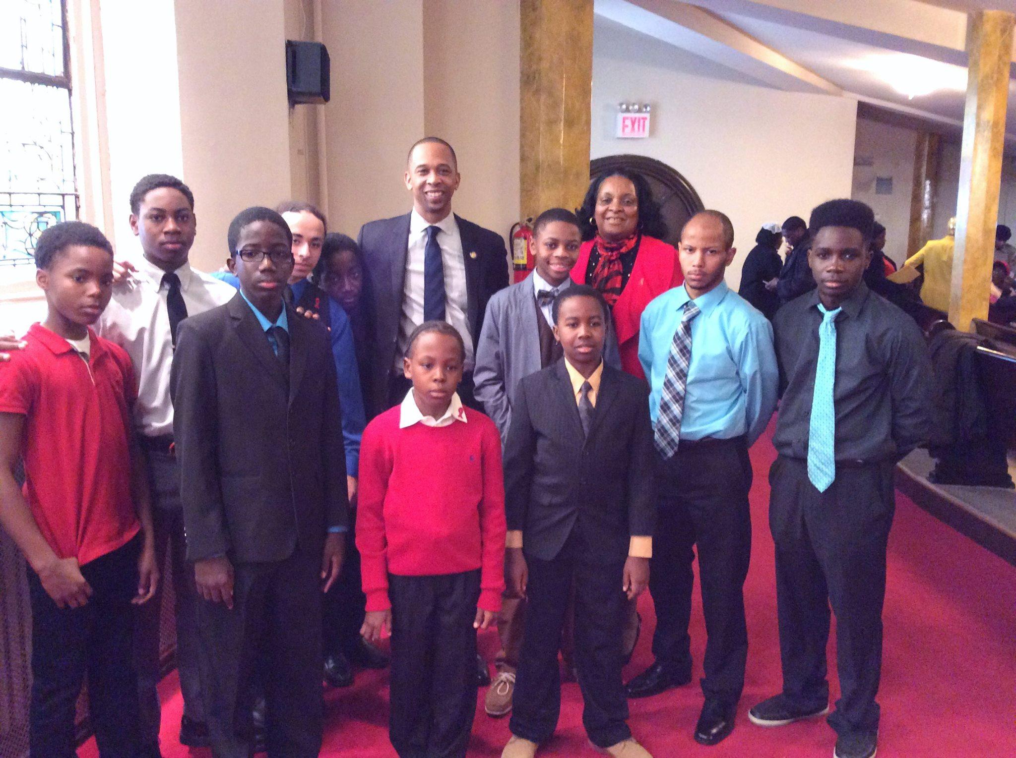 Assemblyman Walter Mosley & Youth