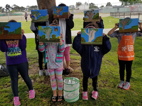 Fun in the Park: Girl Scout Painting Badge