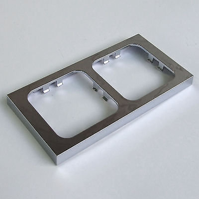 CHROME DOUBLE TWIN FACEPLATE FRAME for C-LINE CBE