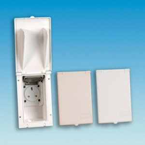 Mains Electric Output 13 Amp (White)