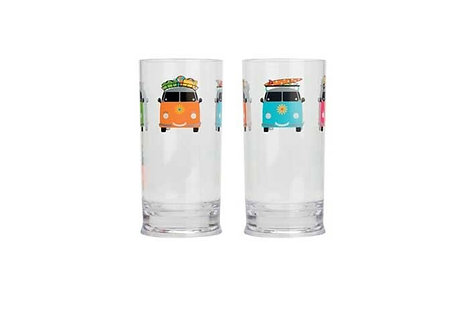 Camper Smiles Campervan Tall Tumblers Set of 2