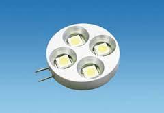 G4 Flat Horizontal 4 LED Warm White 12 Volt Bulb - 4304788