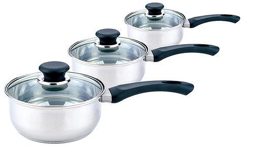 Sabichi 3 Piece Stainless Steel Sauce Pan Set