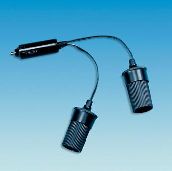 12 Volt Adapter to 2 x 12 Volt Socket