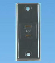 12 volt Socket Black - PO338