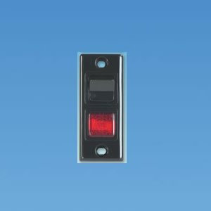 Black Architrave Switch and Neon PO339