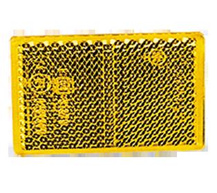 870a R170 REFLECTOR RECT.SA 56 X 39mm. - AMBER