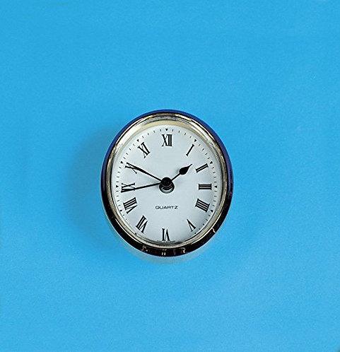 Caravan Oval Insert Clock (White Face)- ME508
