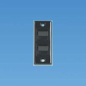 Black Double Architrave Switch PO340