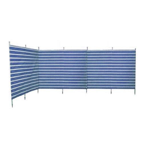 Blue Diamond Striped 7 Pole Navy Blue Windbreak