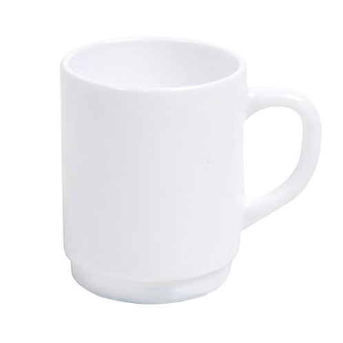 6 x Luminarc Bock White Stackable Coffee Cup Mug 25cl – 8.25 oz