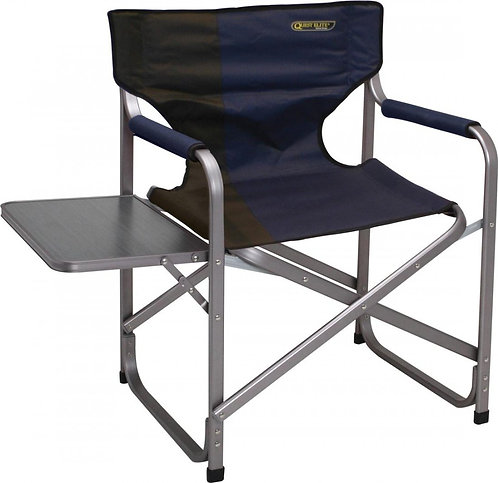 Quest Blue Directors Chair with Side Table