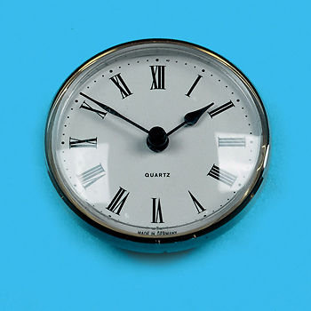 Clock 72mm Round White Face ME505