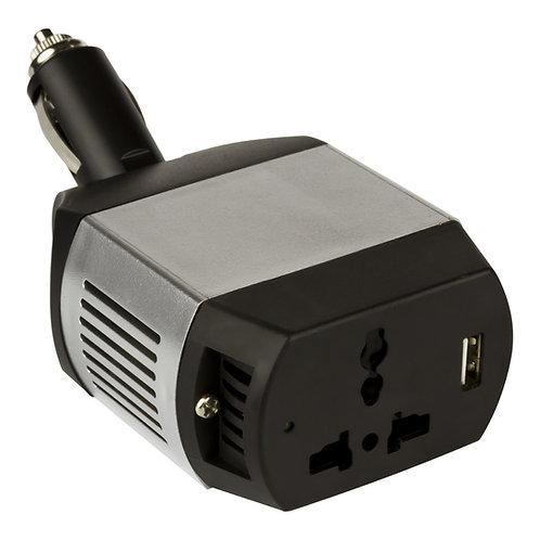 75W - 12V Mini Power Inverter - USB & Plug Sockets