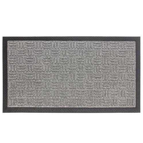 JVL Indoor Grey Woven Welcome Mat