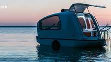 The Sealander, an Amphibious Caravan