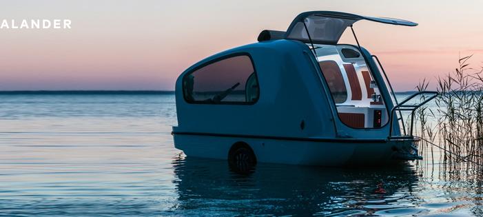 The Sealander, an Amphibious Caravan