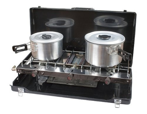 Kampa Alfresco Double Gas and Hob Grill