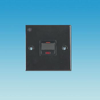 13 AMP FUSED SWITCH - BLACK - PO332
