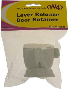 W4 00067 Lever Release Door Retainer, White