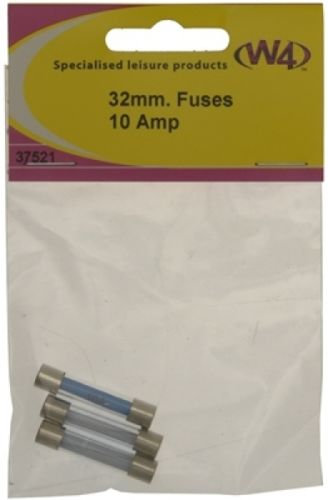 W4 10 AMP FUSE 32 X 6.35MM - PACK OF 3 37521