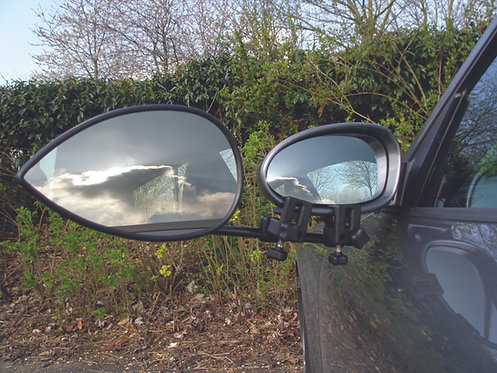 Milenco Aero Towing Mirror Flat - Twinpack