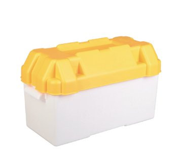 Caravan Yellow 110amp Leisure Battery Holding Box