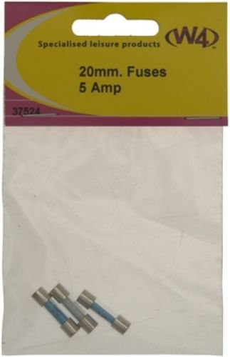W4 5 AMP FUSE 20 X 5MM - PACK OF 3 37524
