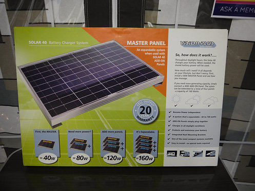 Solar 40 Battery Charger System Master