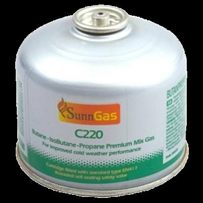 SunnGas 230g Self-Sealing Gas Cartridge C220