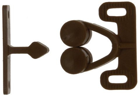W4 Double Roller Catch - Brown, 2 Pack