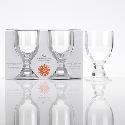 Flamefield Acrylic Break-Resistant Goblets (Set of 4)