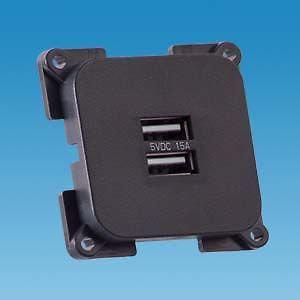 Powerpart C-line Twin USB Socket - PO268